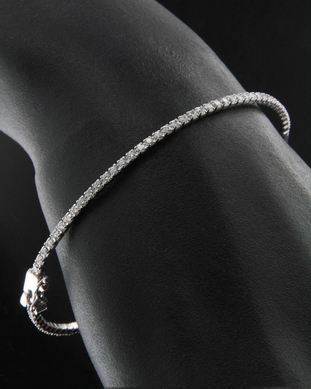 Βραχιόλι λευκόχρυσο Κ14 με Ζιργκόν   κοσμηματα βραχιόλια βραχιόλια fashion