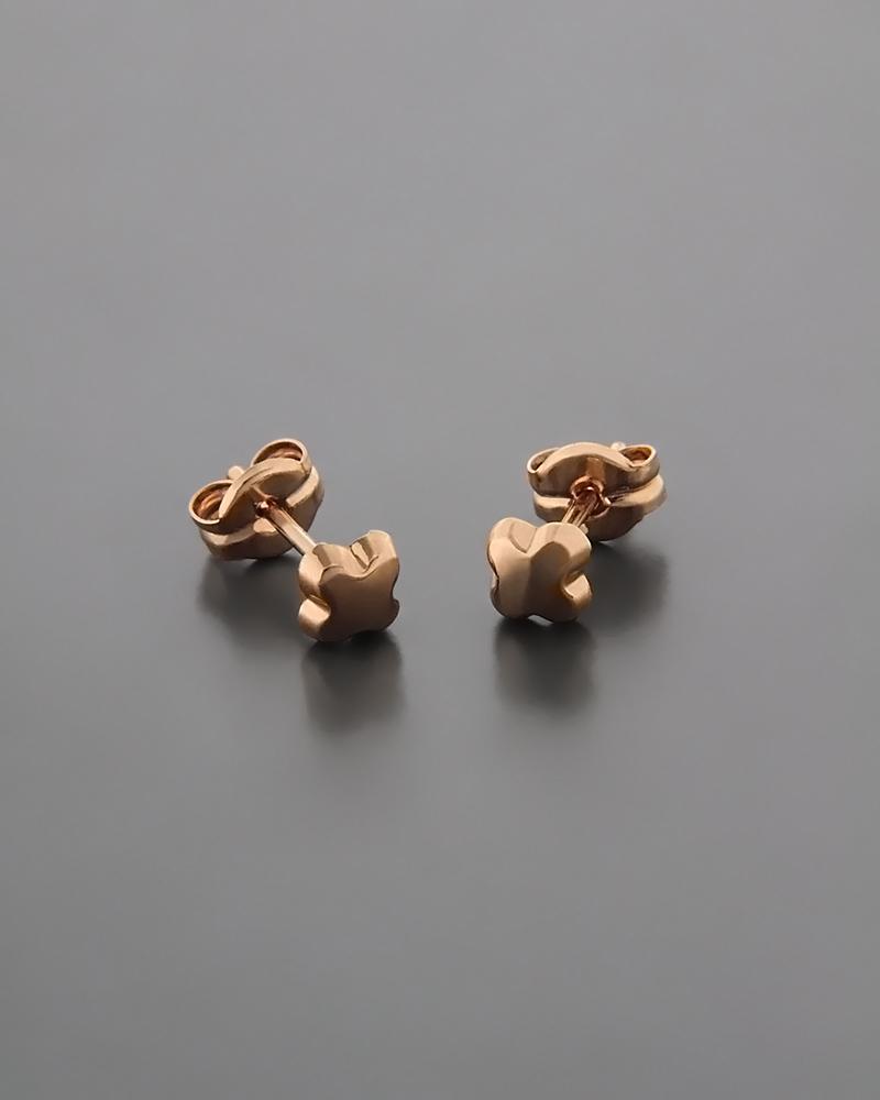 Σκουλαρίκια παιδικά ροζ χρυσά   παιδι σκουλαρίκια παιδικά