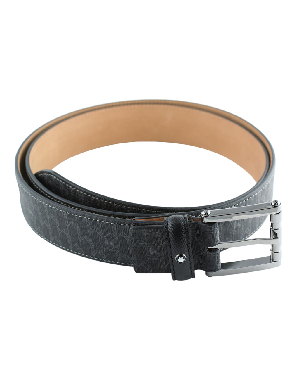 Montblanc Signature Saffiano Leather Black Belt 111099   brands montblanc δερμάτινα είδη   αξεσουάρ