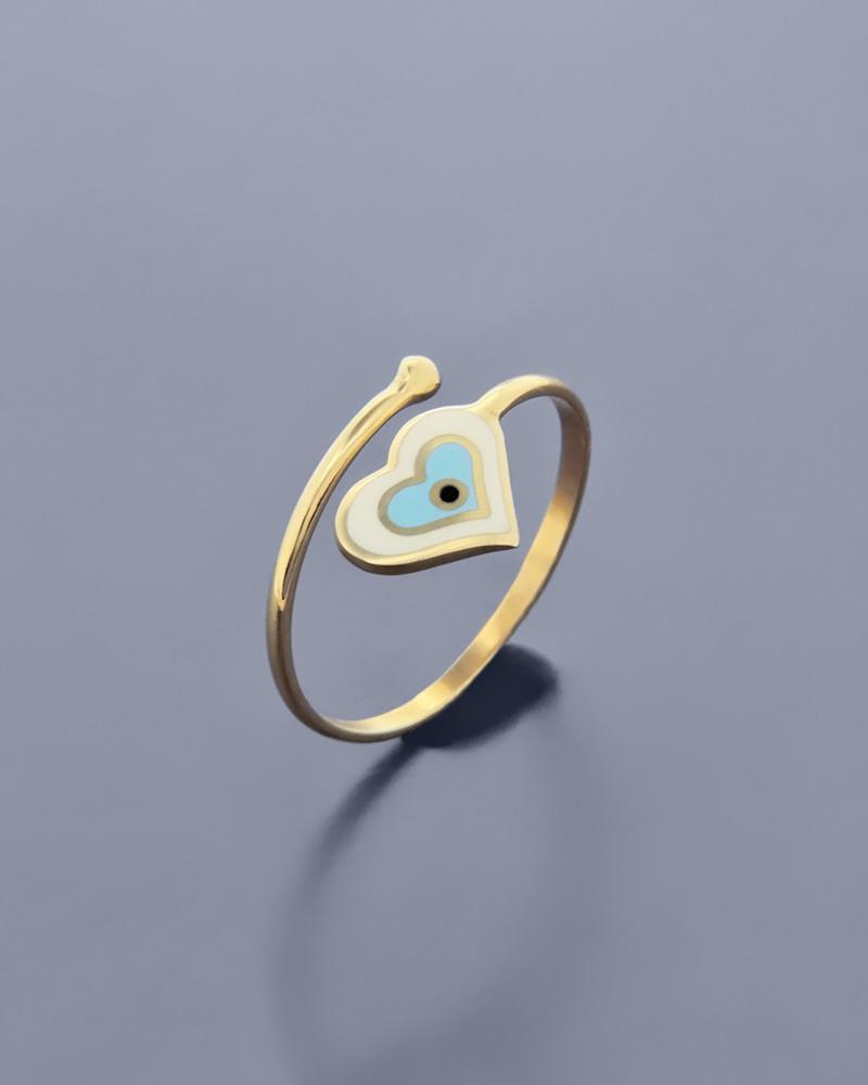 Δαχτυλίδι χρυσό με Σμάλτο   κοσμηματα κοσμήματα με ματάκι