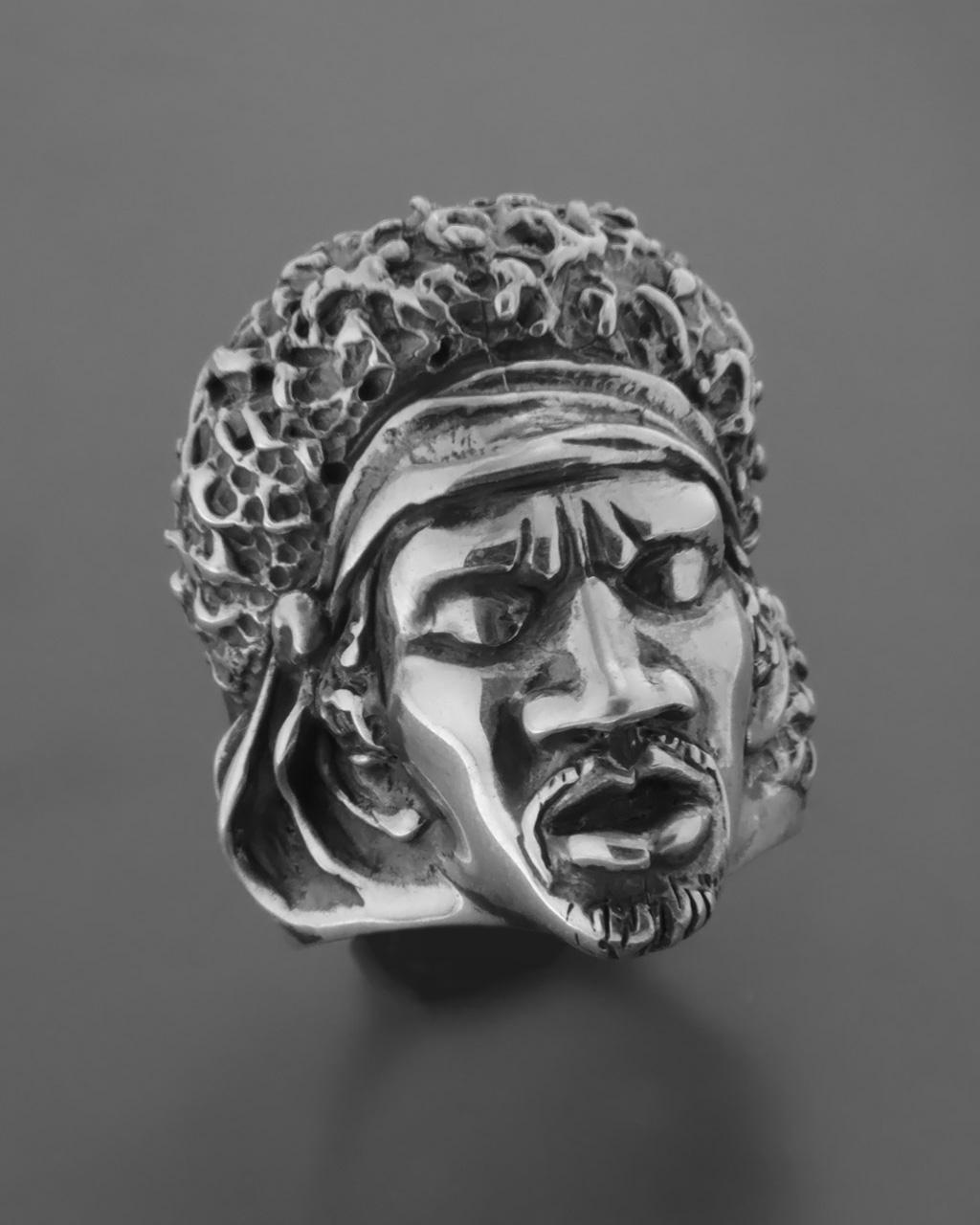 Δαχτυλίδι ανδρικό χειροποίητο ασημένιο 925 Jimi Hendrix