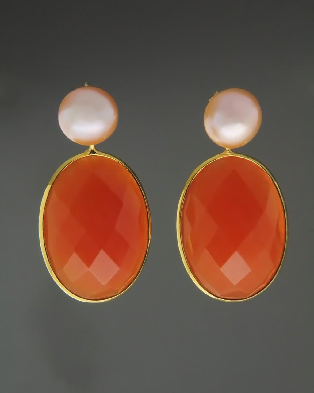 Κρεμαστά σκουλαρίκια με Μαργαριτάρια & Vetro   γυναικα σκουλαρίκια σκουλαρίκια ασημένια