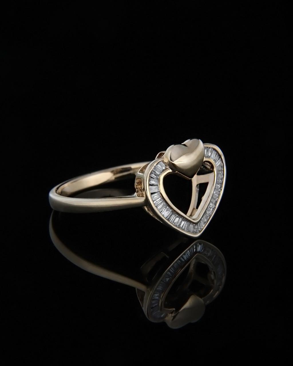 Δαχτυλίδι καρδιά χρυσό με Διαμάντια   γυναικα δαχτυλίδια δαχτυλίδια χρυσά