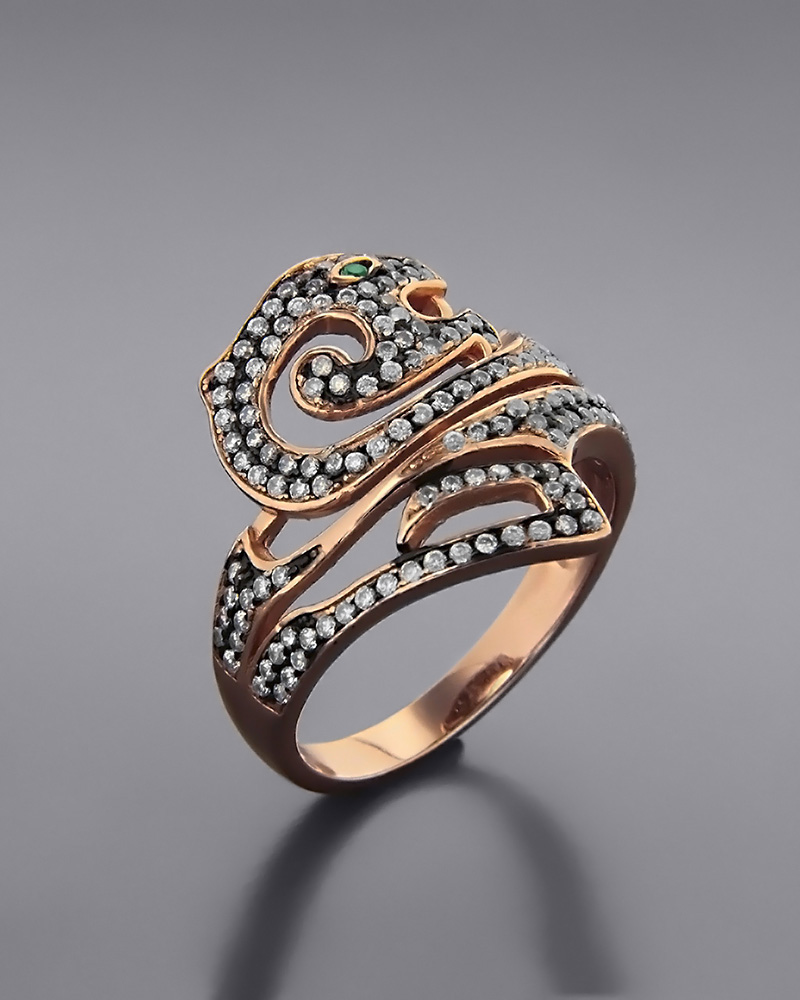 Δαχτυλίδι fashion ασημένιο με Ζιργκόν   γυναικα δαχτυλίδια δαχτυλίδια ασημένια