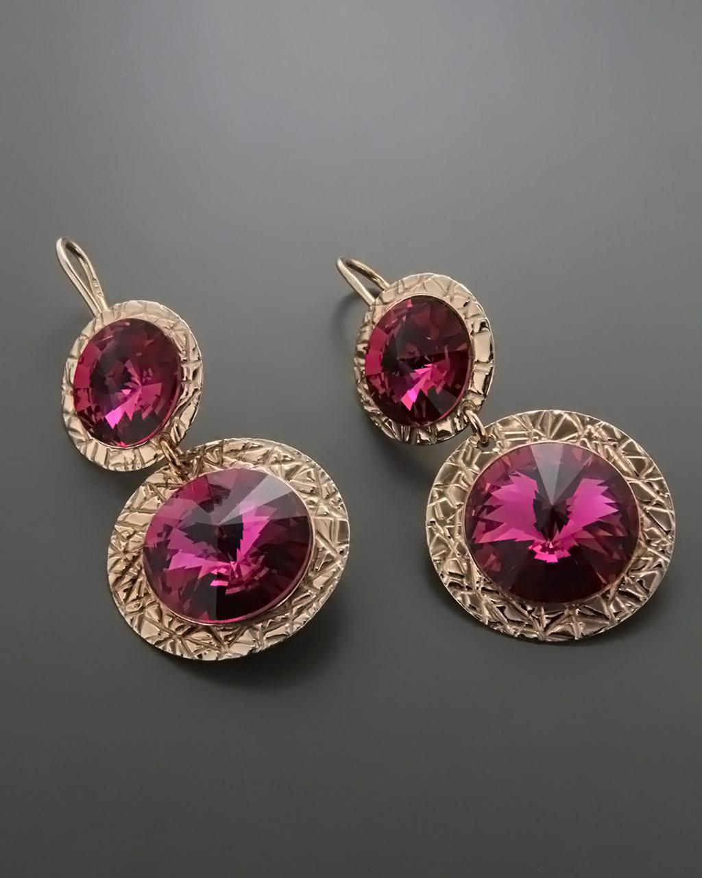 Κρεμαστά Σκουλαρίκια με Swarovski   γυναικα σκουλαρίκια σκουλαρίκια ασημένια