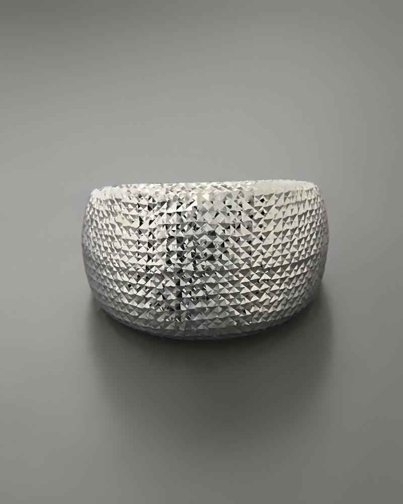 Δαχτυλίδι λευκόχρυσο Κ14