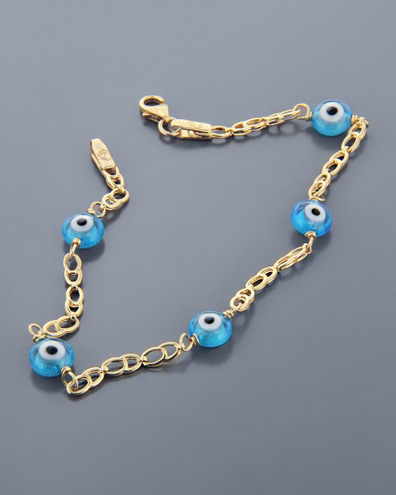 Παιδικό βραχιόλι χρυσό με Ματάκια   κοσμηματα κοσμήματα με ματάκι