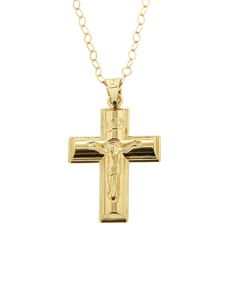 Σταυρός Βαπτιστικός Χρυσός K9   νεεσ αφιξεισ κοσμήματα παιδικά