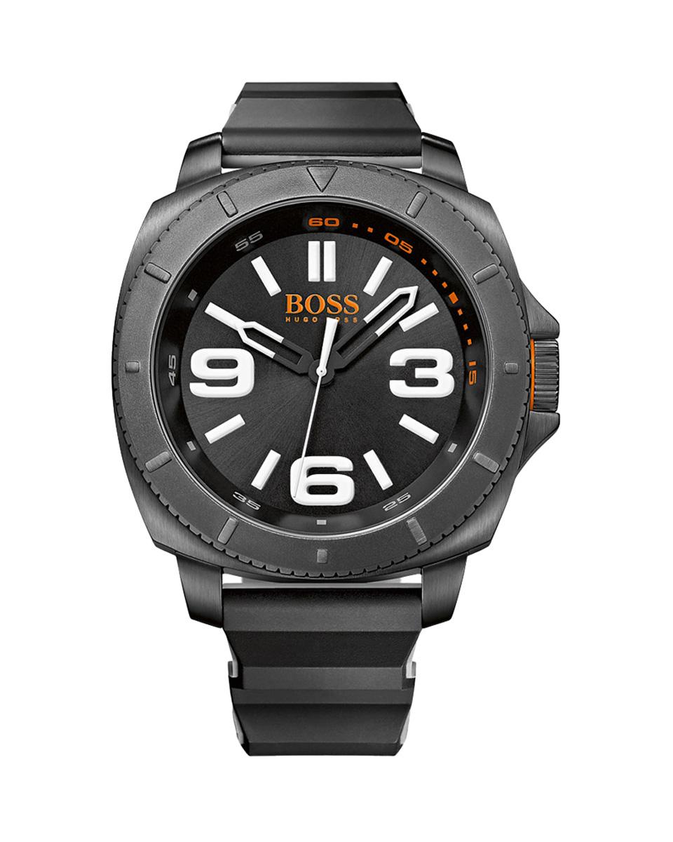 Ρολόι BOSS Orange black rubber strap 1513106   brands boss ρολόγια boss