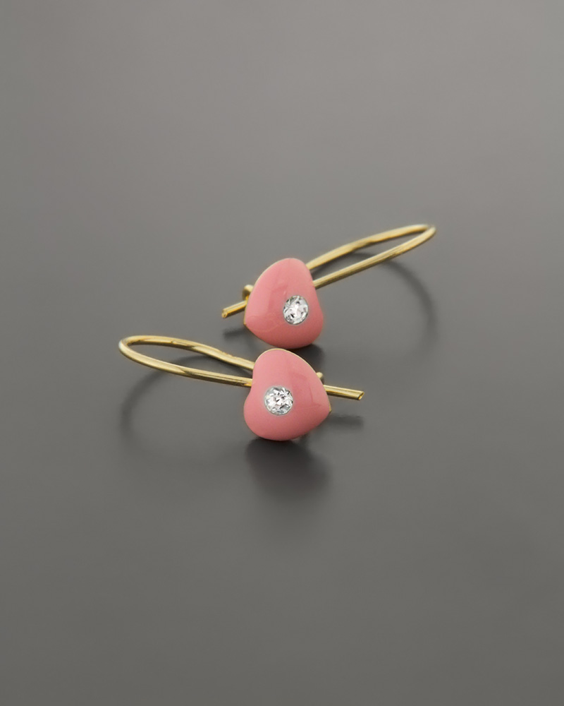 Παιδικά σκουλαρίκια Καρδιές χρυσά Κ9   κοσμηματα κοσμήματα με καρδιές