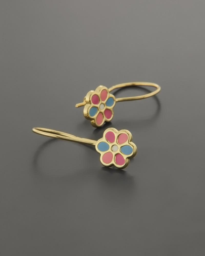Παιδικά σκουλαρίκια μαργαρίτες χρυσά Κ9   νεεσ αφιξεισ κοσμήματα παιδικά