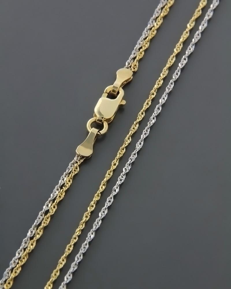 Αλυσίδα λαιμού χρυσή & λευκόχρυση Κ14   κοσμηματα αλυσίδες λαιμού αλυσίδες λευκόχρυσες