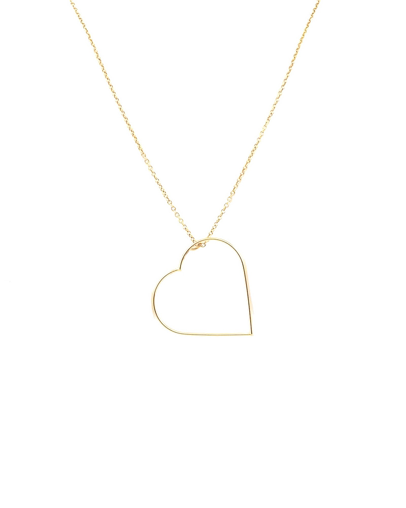 Κολιέ με καρδιά χρυσό Κ14   γυναικα κοσμήματα με καρδιές
