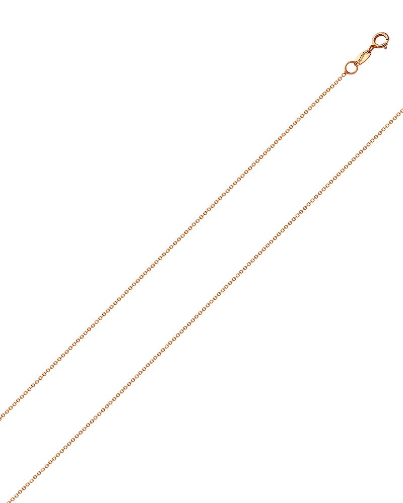 Αλυσίδα λαιμού ροζ χρυσή Κ18 45cm   παιδι αλυσίδες λαιμού αλυσίδες ροζ χρυσό
