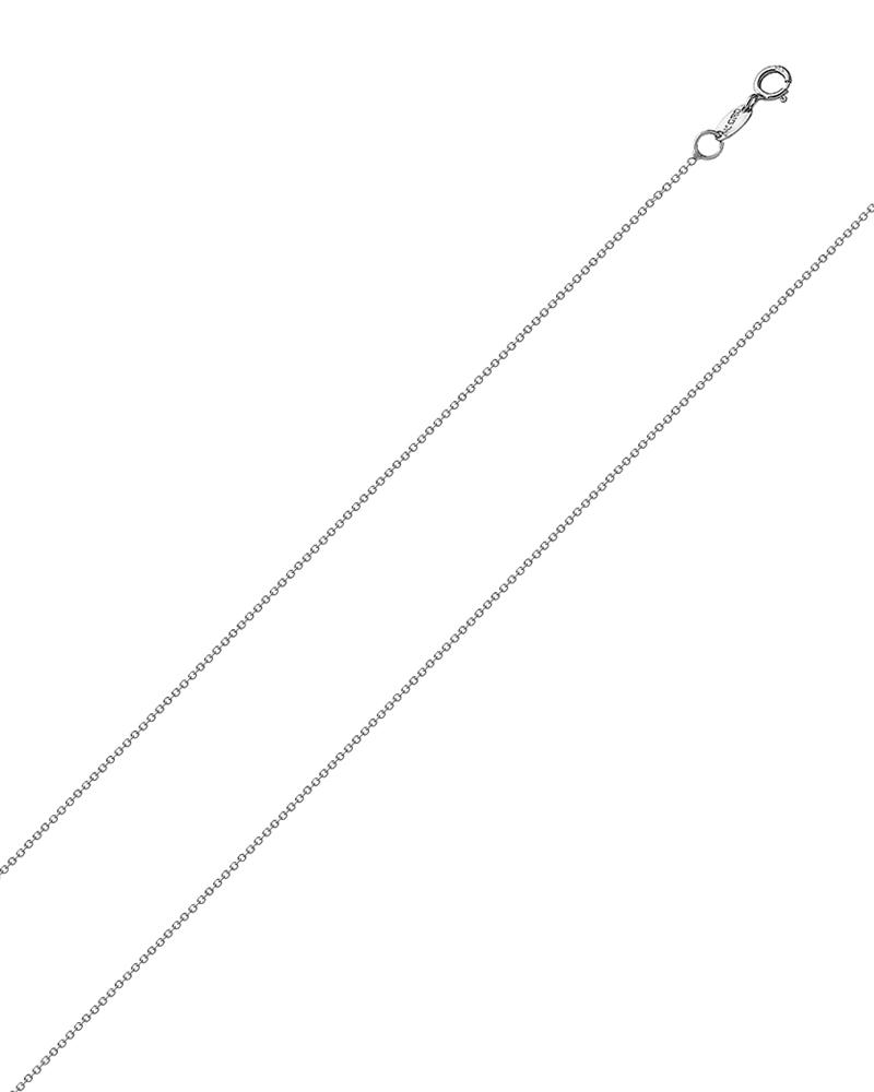 Αλυσίδα λαιμού λευκόχρυση Κ18 40cm   κοσμηματα αλυσίδες λαιμού αλυσίδες λευκόχρυσες