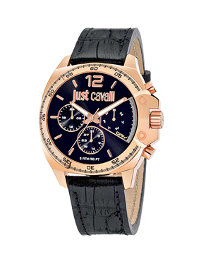 Ρολόι Just Cavalli Just Escape Rose Gold Black R7251213001