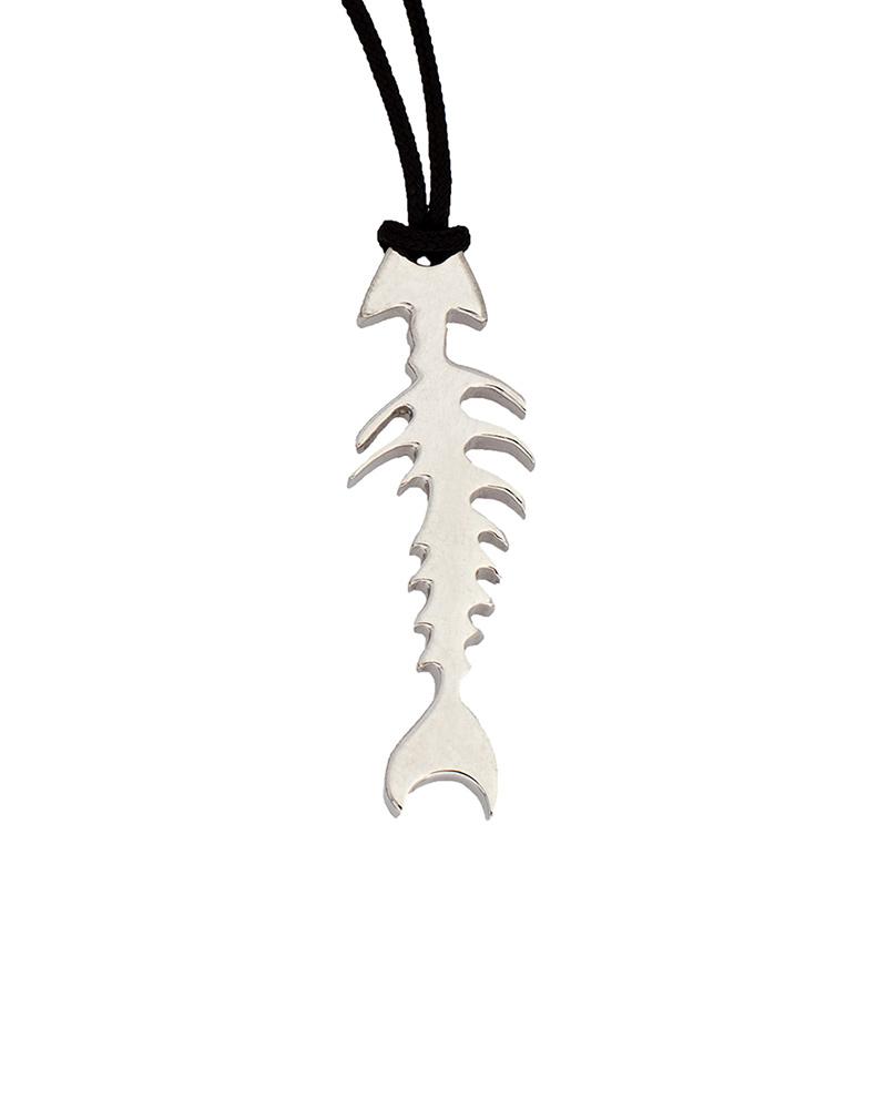 Κολιέ Ψαροκόκαλο HONOR Assorted Silver HONORP52   κοσμηματα κρεμαστά κολιέ κρεμαστά κολιέ fashion
