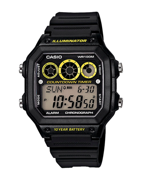 Ρολόι Casio Collection Digital Black AE-1300WH-1AVEF