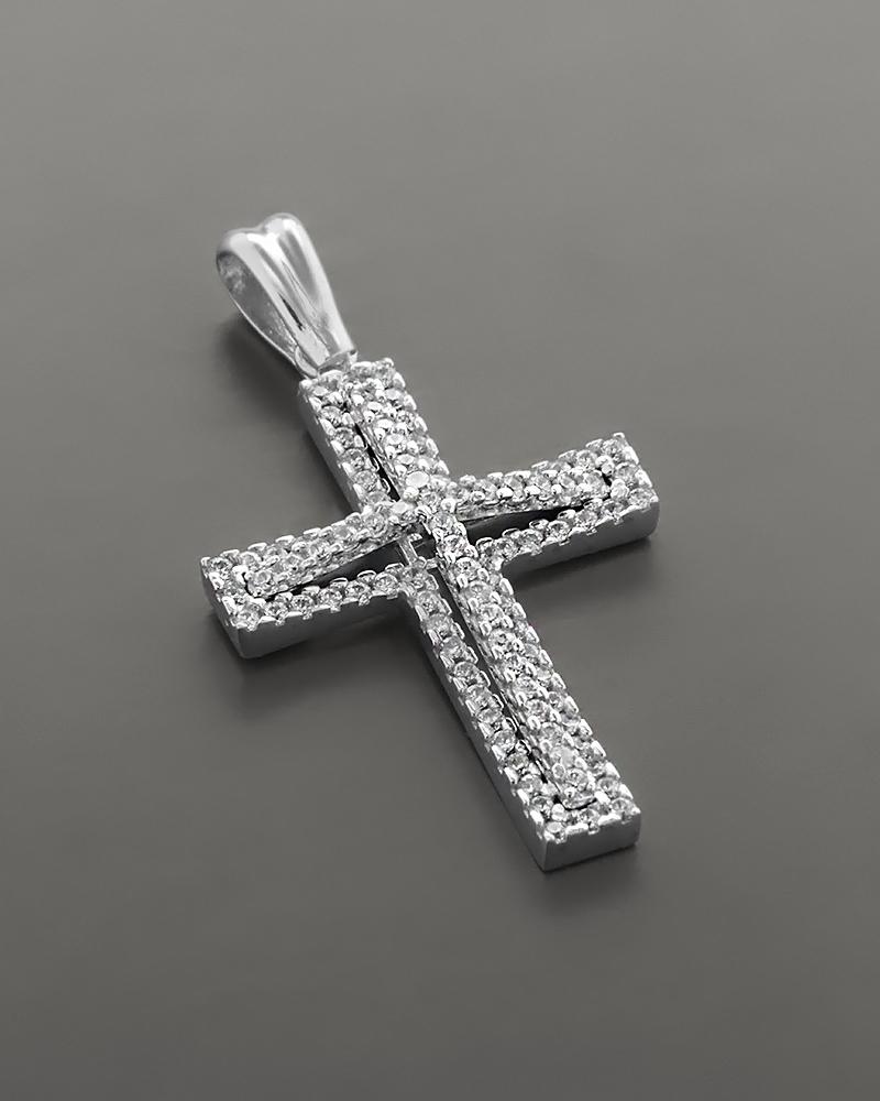 Βαπτιστικός Σταυρός λευκόχρυσος Κ14 με Ζιργκόν   παιδι βαπτιστικοί σταυροί βαπτιστικοί σταυροί για κορίτσι