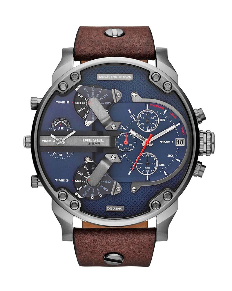 Ρολόι DIESEL Μr Daddy 2 Brown Leather Strap DZ7314   brands diesel