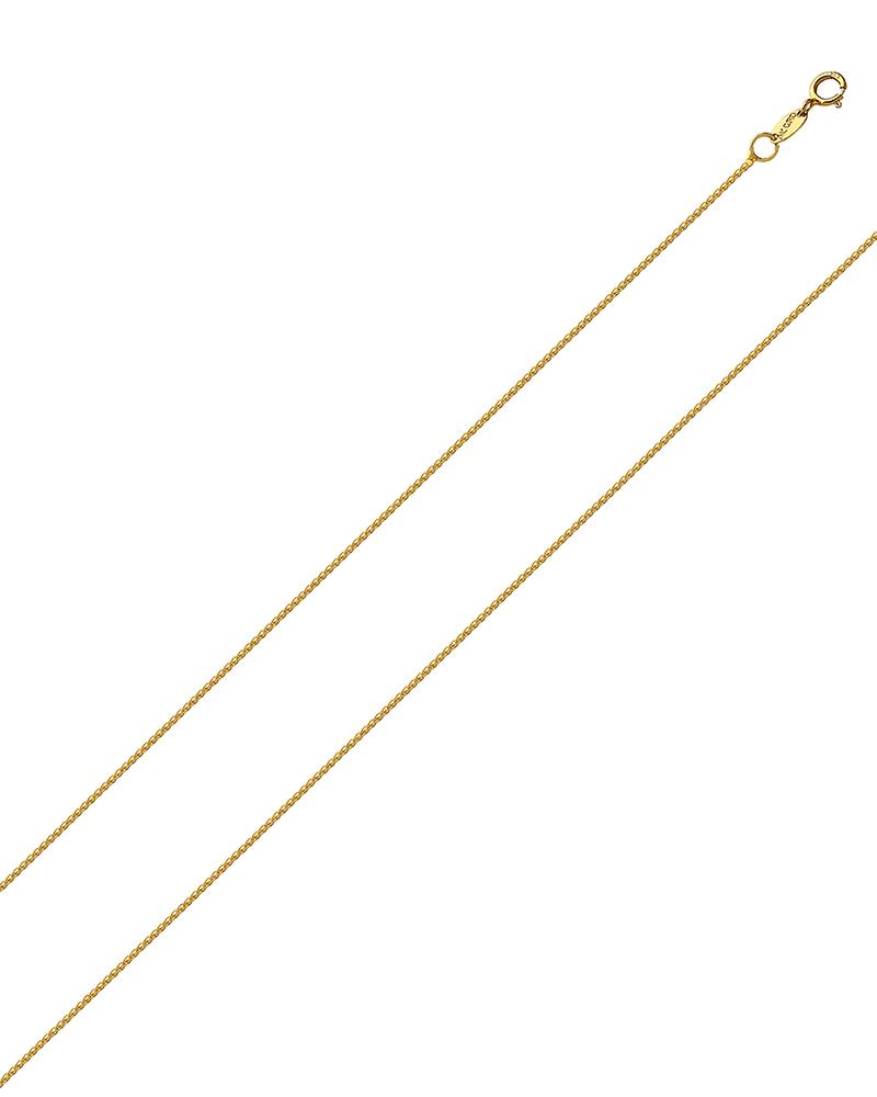 Αλυσίδα λαιμού χρυσή Κ18 40cm   γυναικα αλυσίδες λαιμού αλυσίδες χρυσές