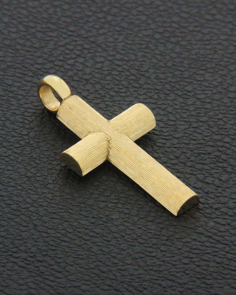 Χειροποίητος Σταυρός χρυσός Κ14   ανδρασ σταυροί ανδρικοί