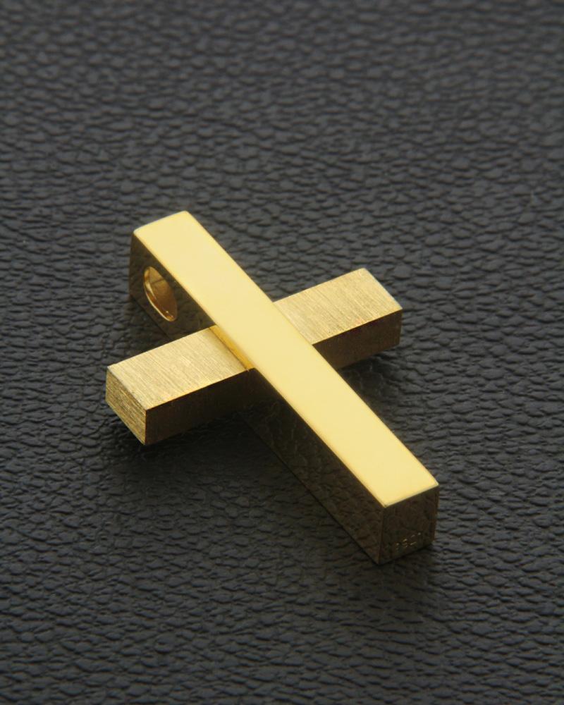 Χειροποίητος Σταυρός χρυσός Κ18   κοσμηματα σταυροί βαπτιστικοί σταυροί για αγόρι