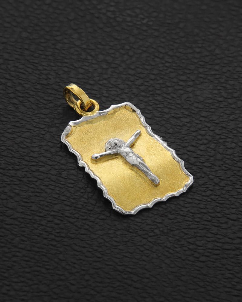 Φυλαχτό Χριστός χρυσό & λευκόχρυσο Κ14   παιδι παραμάνες και παιδικά φυλαχτά