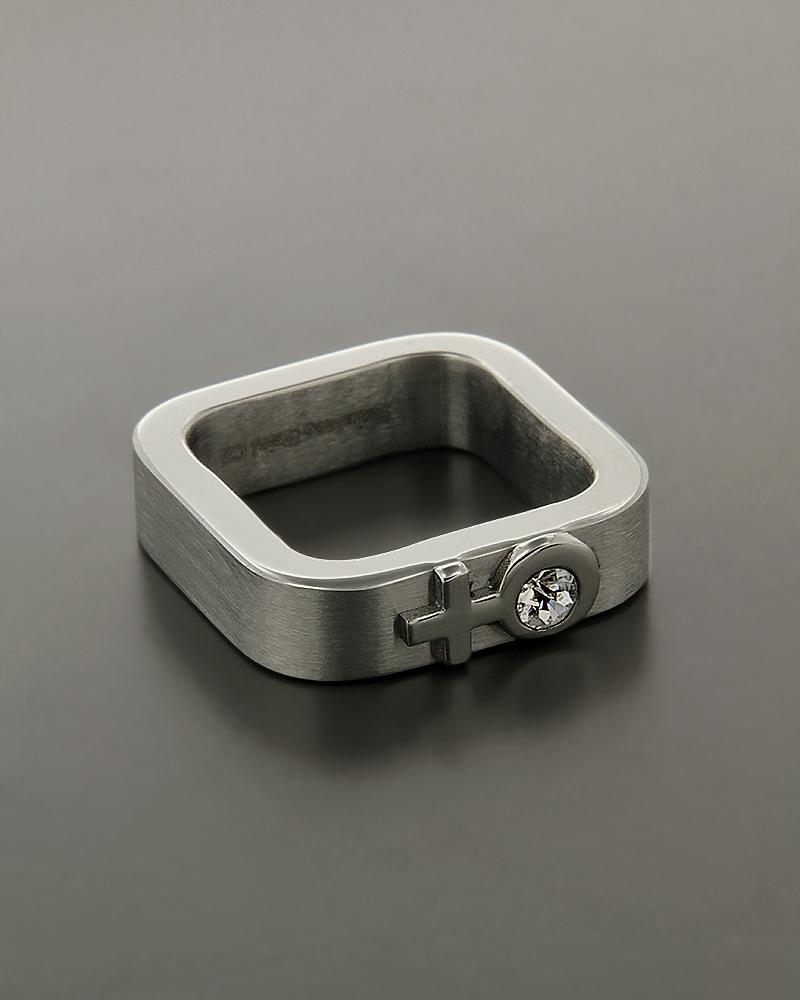 Δαχτυλίδι ανδρικό από ατσάλι