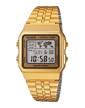 Ρολόι CASIO Collection Digital Ladies Gold A-500WEGA-9EF