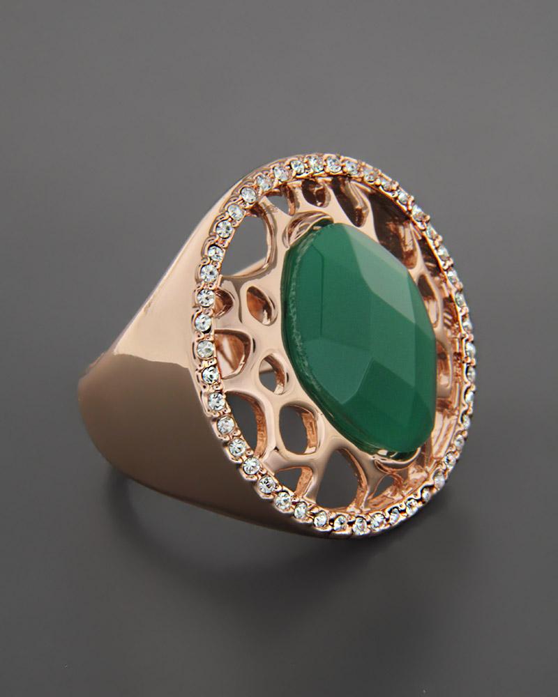 Δαχτυλίδι από ορείχαλκο με Ζάντ & Ζιργκόν   γυναικα δαχτυλίδια δαχτυλίδια fashion