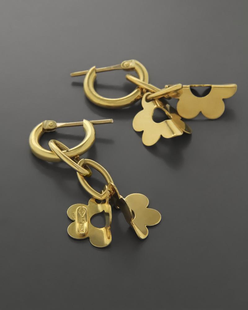 Σκουλαρίκια κρεμαστά Χρυσά Κ18   γυναικα σκουλαρίκια σκουλαρίκια fashion