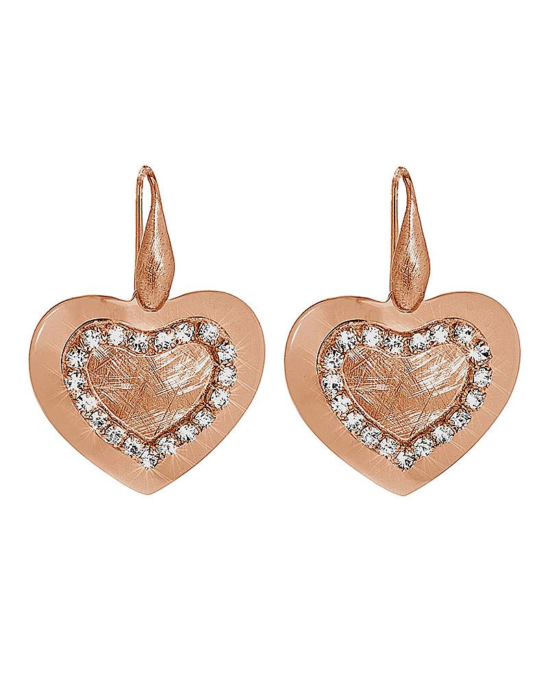 Σκουλαρίκια Καρδιά Stroili New Moon απο ορείχαλκο 1613297   κοσμηματα σκουλαρίκια σκουλαρίκια fashion