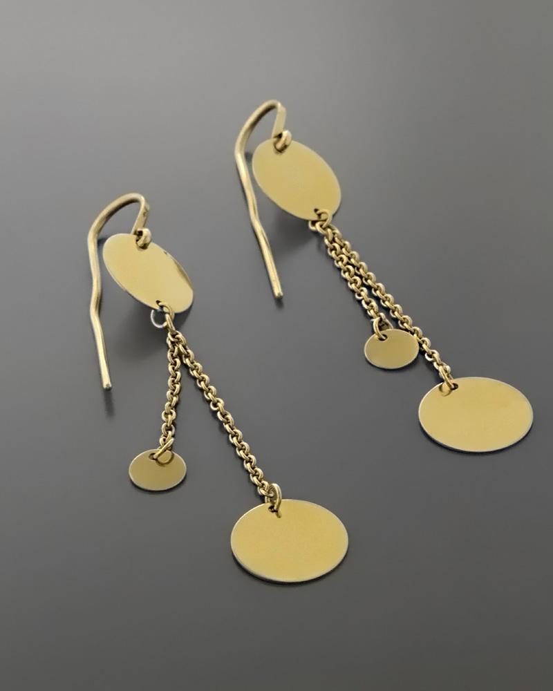 Σκουλαρίκια κρεμαστά χρυσά Κ14   γυναικα σκουλαρίκια σκουλαρίκια fashion