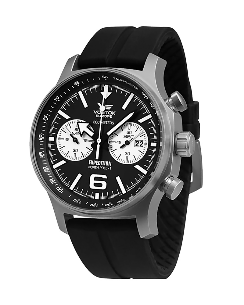 Ρολόι VOSTOK Europe North Pole Black Ruuber 6S21-5954199   brands vostok europe