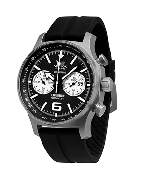 Ρολόι VOSTOK Europe Expedition North Pole Black Ruuber 6S21-5955