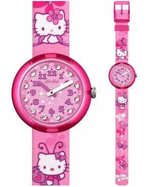 Ρολόι Flik Flak Hello Kitty Pink Butterfly ZFLNP005