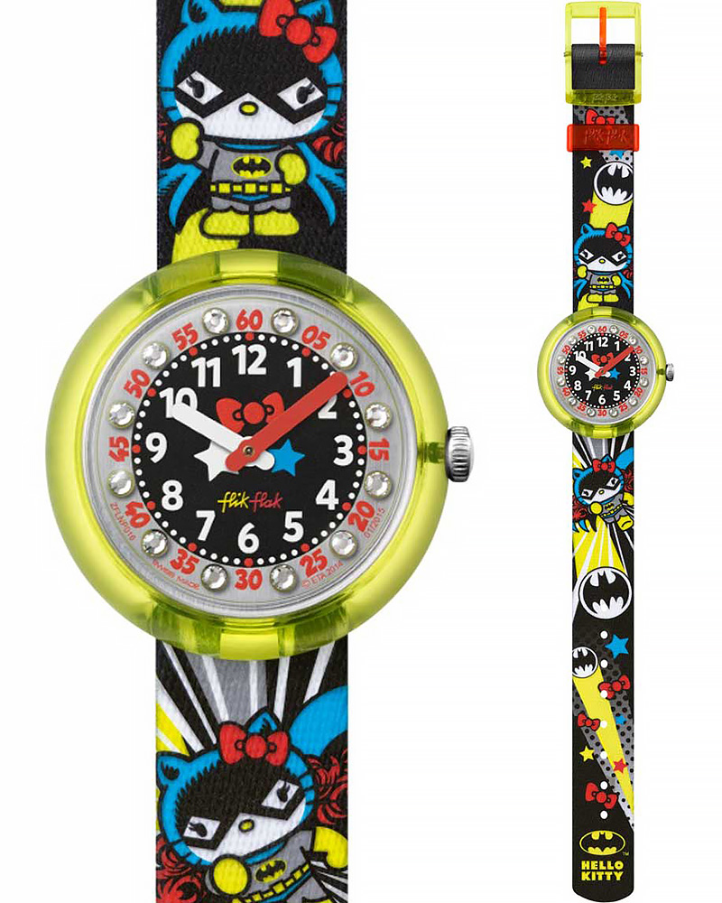 Ρολόι Flik Flak HELLO KITTY Batgirl Multicolor ZFLNP016   ρολογια παιδικά ρολόγια