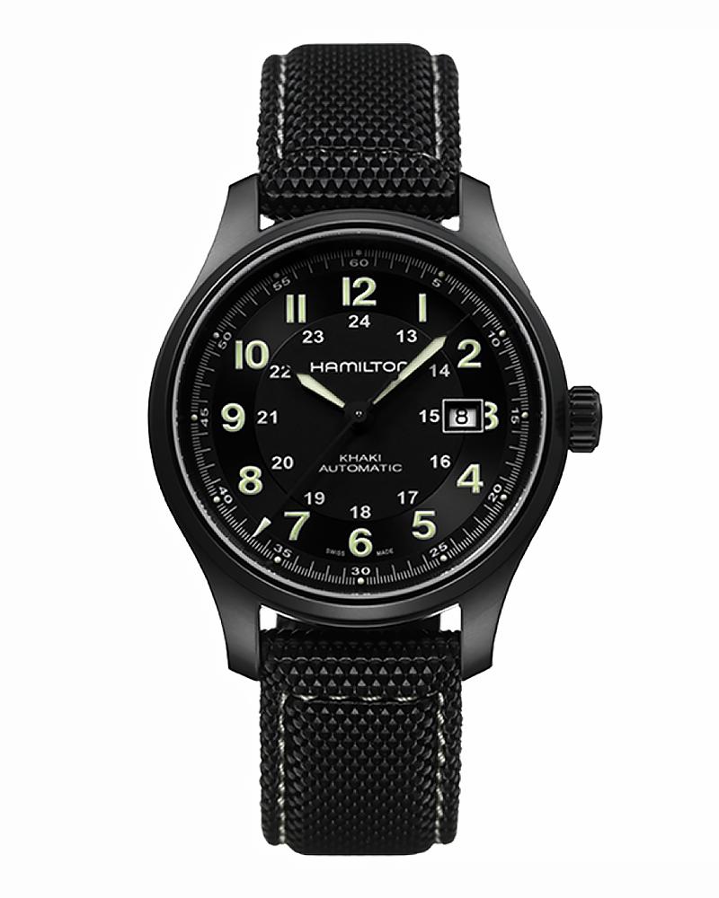 Ρολόι HAMILTON KHAKI Field Automatic Titanium H70575733   brands hamilton