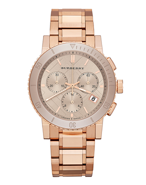 Ρολόι BURBERRY Rose Gold Chronograph BU9703