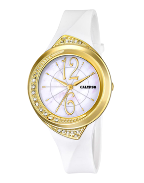 Ρολόι Calypso Ladies Crystals White K5638/3