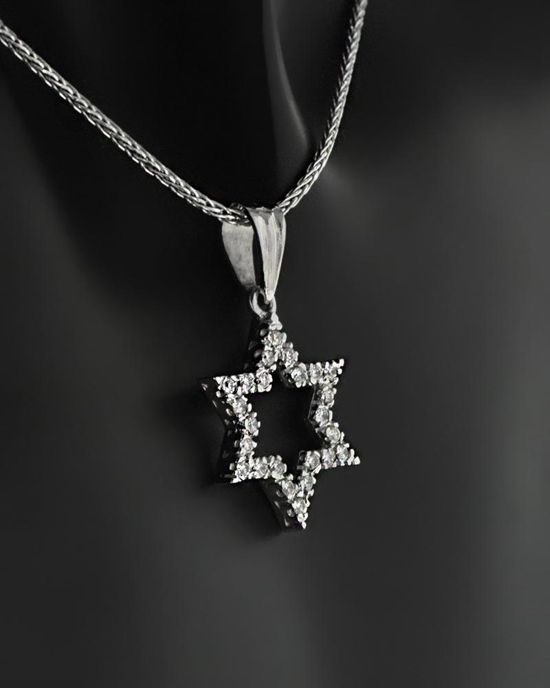 Κολιέ αστέρι λευκόχρυσο Κ18 με Διαμάντια   γυναικα κρεμαστά κολιέ κρεμαστά κολιέ λευκόχρυσα