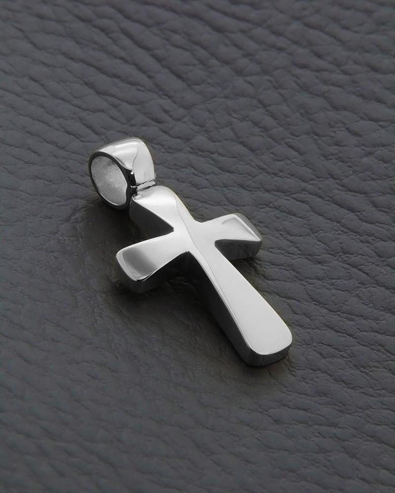 Σταυρός βαπτιστικός Λευκόχρυσος Κ14   ανδρασ σταυροί ανδρικοί