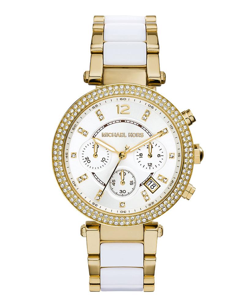 Ρολόι MICHAEL KORS Parker Chrono Resin & Gold MK6119   brands michael kors