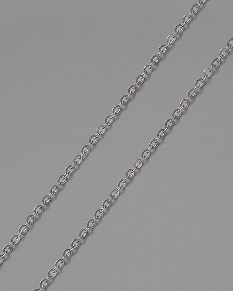 Αλυσίδα λαιμού λευκόχρυση Κ9 50cm