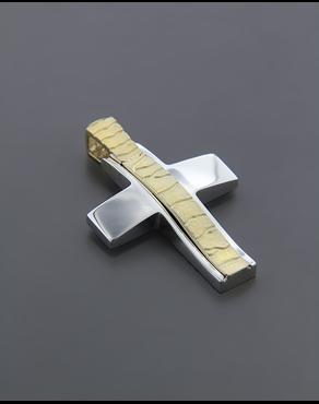 Σταυρός βάπτισης χρυσός   λευκόχρυσος K14 6d8852c13ba