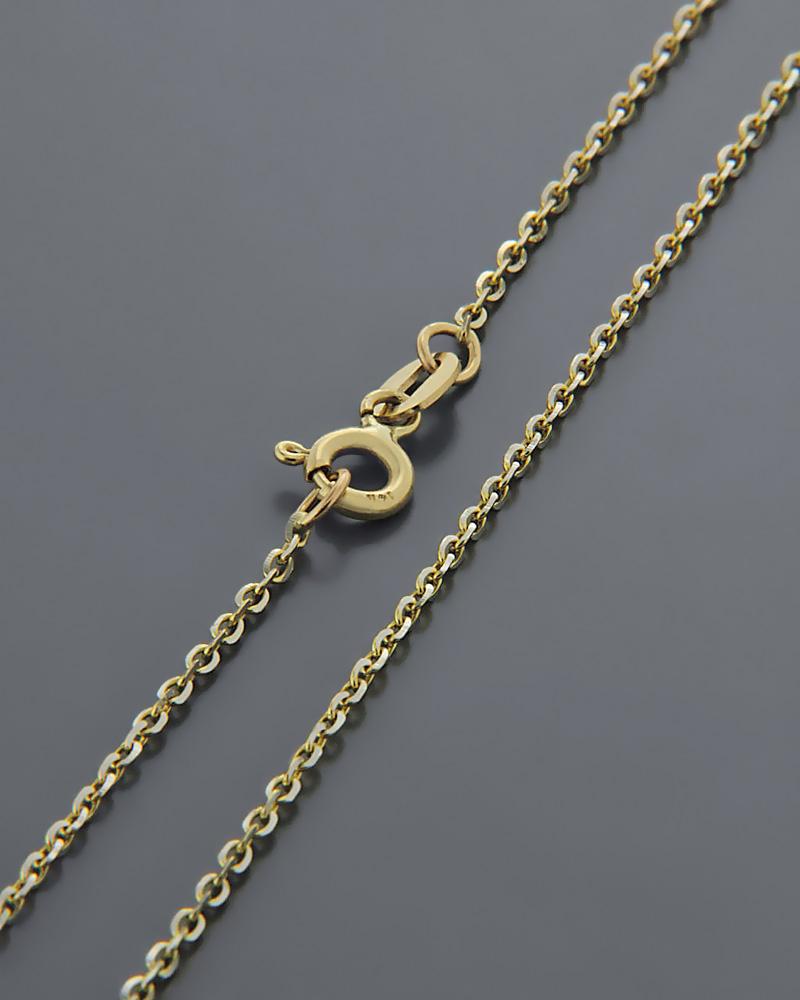 Αλυσίδα λαιμού χρυσή & λευκόχρυση Κ14 45cm   κοσμηματα αλυσίδες λαιμού αλυσίδες χρυσές