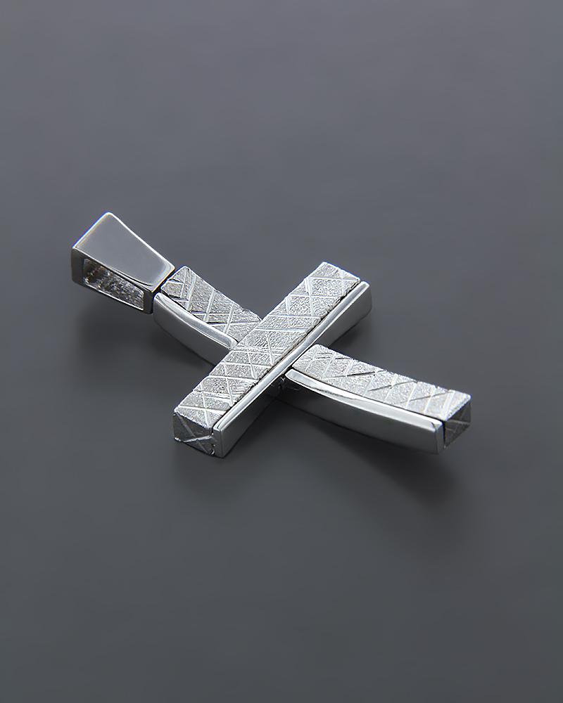 Σταυρός βάπτισης Λευκόχρυσος K14   ανδρασ σταυροί ανδρικοί