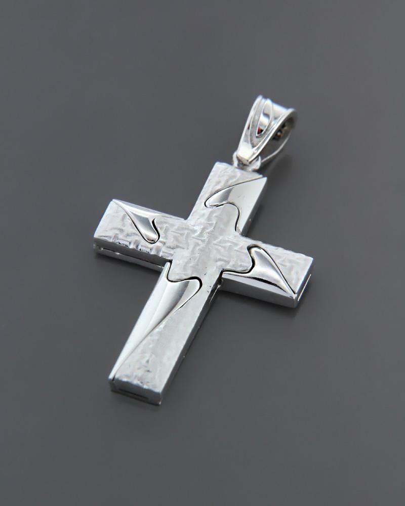 Σταυρός βαπτιστικός λευκόχρυσος K14   ανδρασ σταυροί ανδρικοί