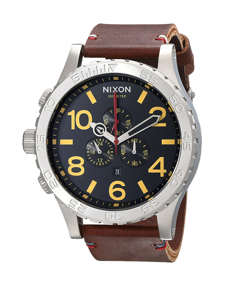 Ρολόι Nixon Chrono Leather A124-019-00   brands nixon